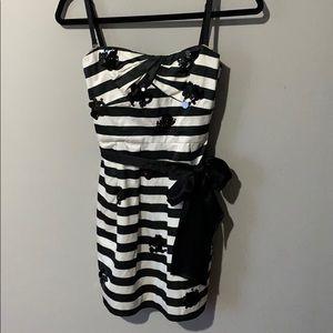 BCBG Striped Mini Dress